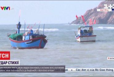 Во Вьетнаме больше миллиона человек должны покинуть дома из-за разрушительного тайфуна
