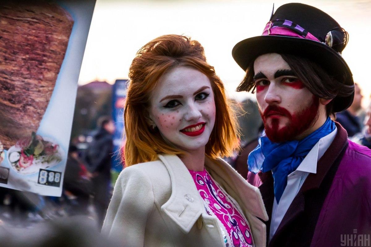 Украинцы отпраздновали Halloween / фото УНИАН