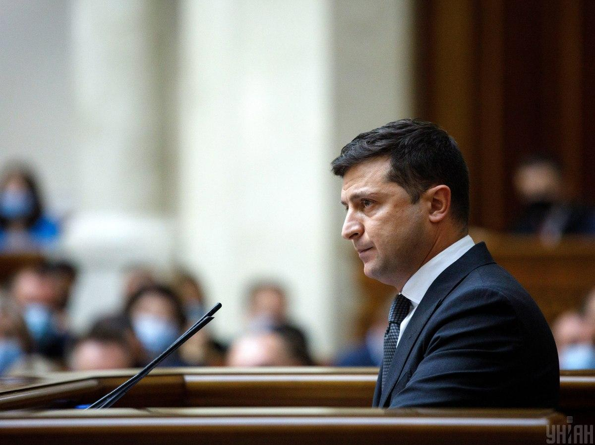 Ukrainian President Volodymyr Zelensky asks MPs to support his bill / Photo from UNIAN