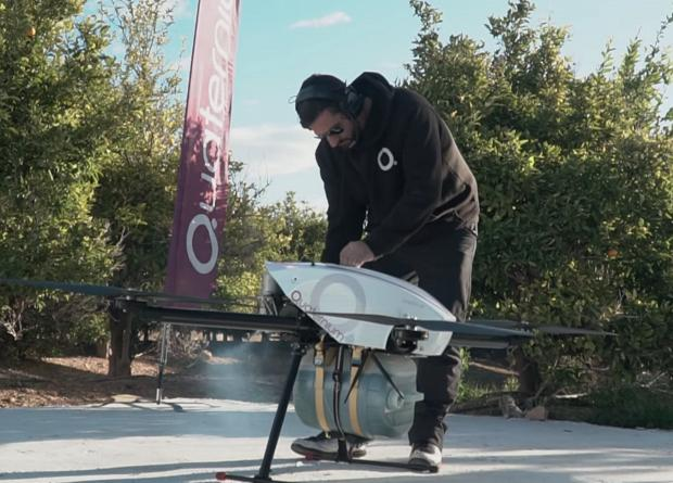 The quadcopter flew more than 10 hours / photo by Quaternium Technologies