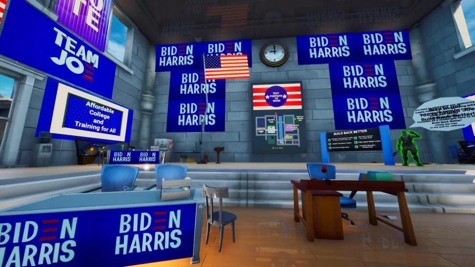 Предвыборная символика кандидата от Демократической партии /фото pcgamer.com