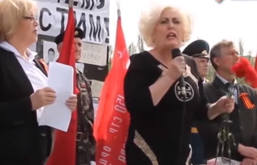 Неля Штепа - скандальная сепаратистка прошла в мэрию Славянска / скриншот