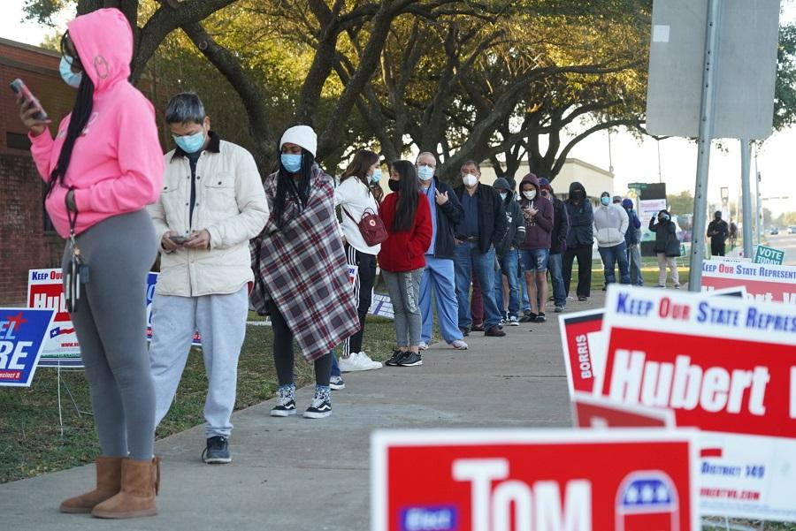 Явка на выборах президентаСША стала рекордной/ фото REUTERS