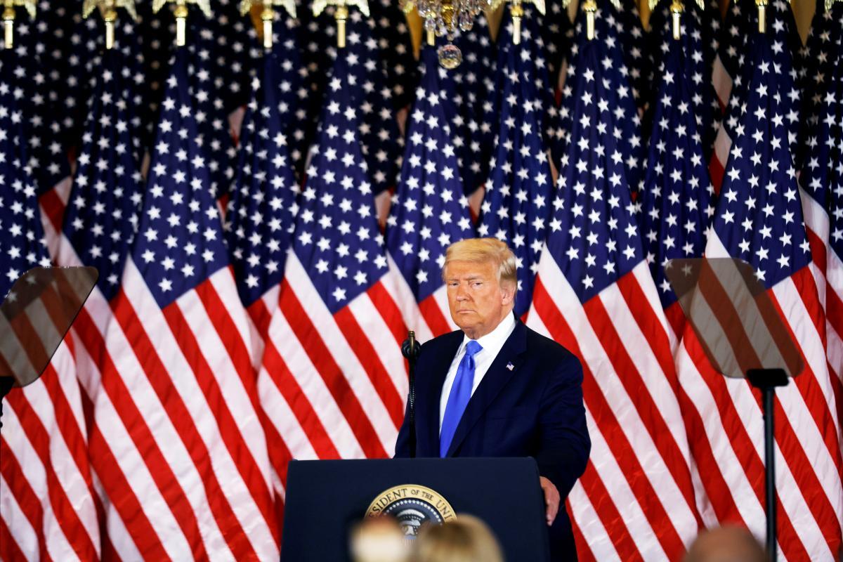 """Трамп заявил, что """"полон решимости защитить избирательную систему""""США/ Фото: REUTERS"""