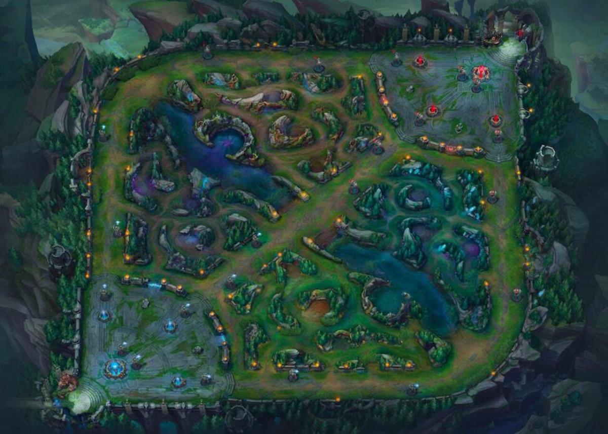 """Карта """"Ущелье призывателей"""" / скриншот"""