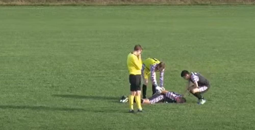 Футболист симулировал травму / фото kurir.rs