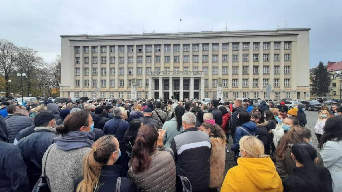 Акция протеста продолжалась три часа/фото УНИАН