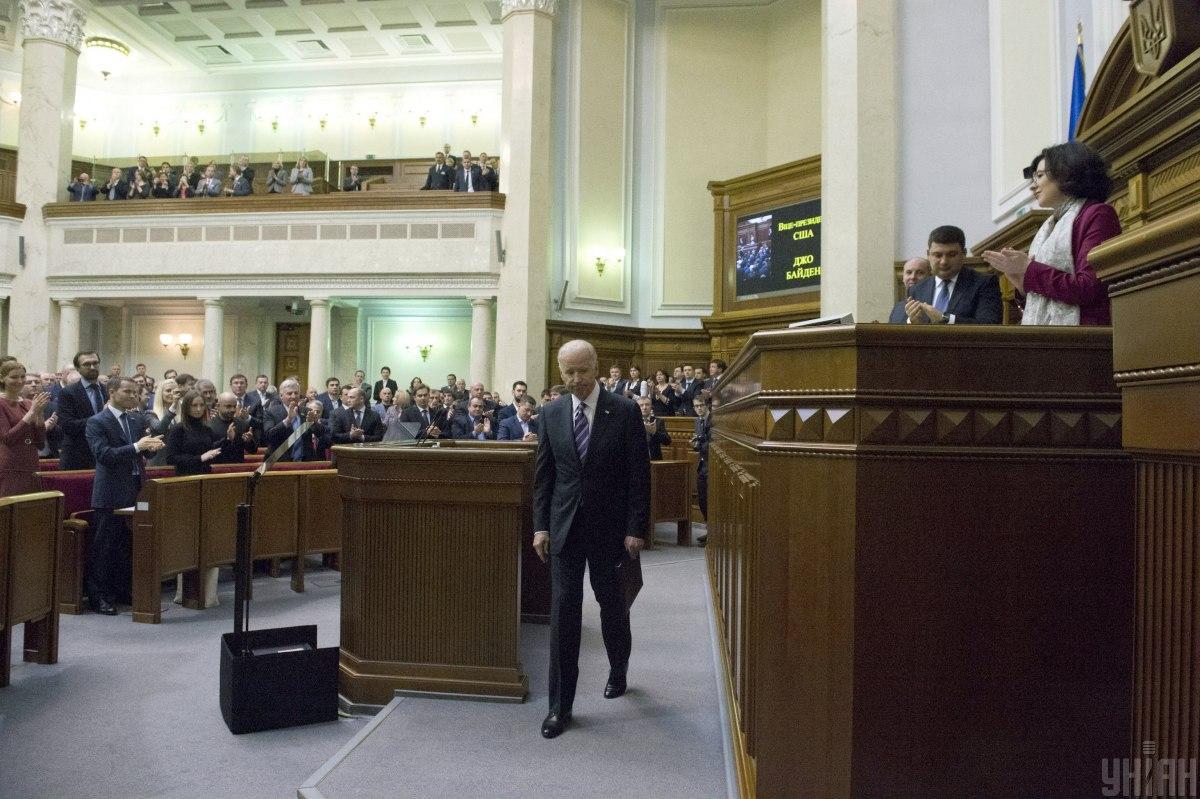 Байден в Верховной Раде, 8 декабря 2015 года / УНИАН