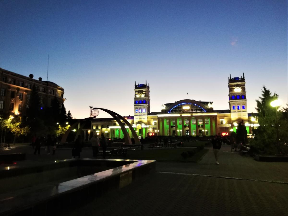 Привокзальна площа в Харкові / фото Марина Григоренко