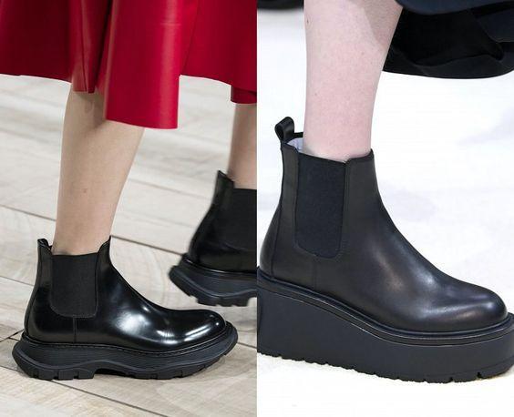 Модная обувь зима 2020 / фотоAlexander McQueen, Valentino