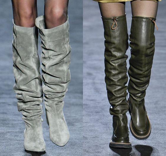Модные сапоги на зиму 2020-2021 pinterest.com