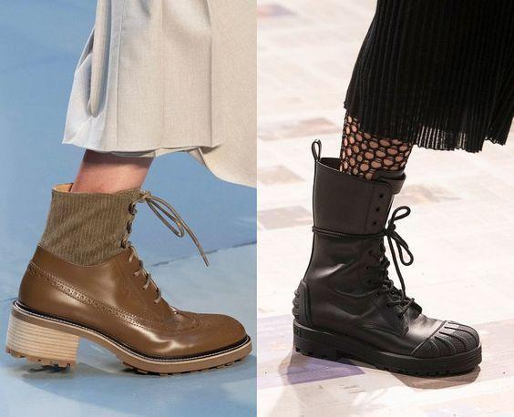 Модные зимние ботинки / фото Chloé, Christian Dior