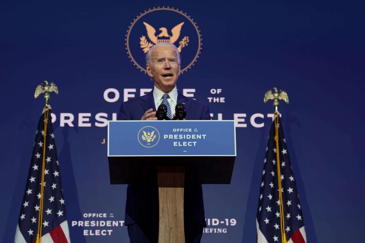 Байден розповів, що збирається робити в перші 100 днів на посту президента\ фото REUTERS