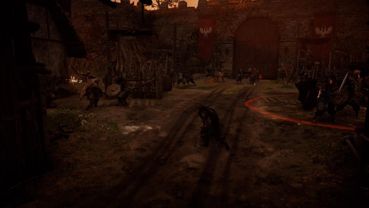Штурм крепости с тараном в одной из миссий / скриншот