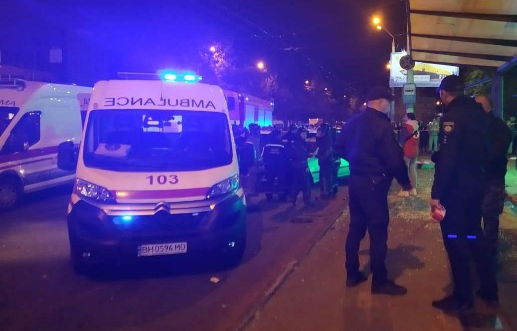В Одессе произошлоДТП на остановке общественного транспорта / фото od.npu.gov.ua