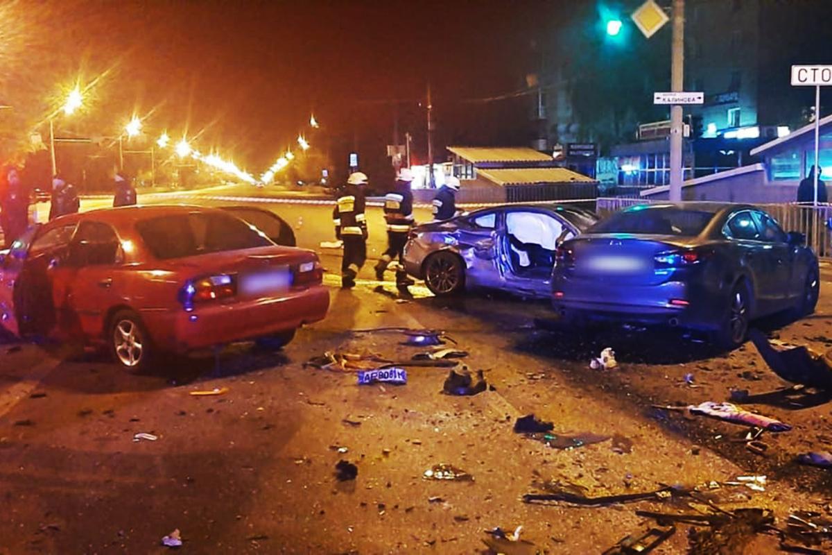 Авария произошла ночью / фото ГСЧС