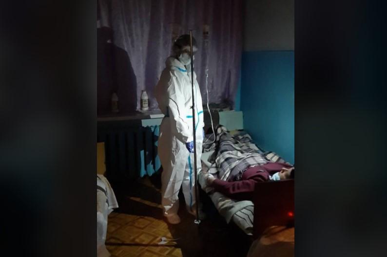 """Фотография с """"коронавирусной"""" больницы Новомосквоска/ фото Александра Новицкая/Facebook"""