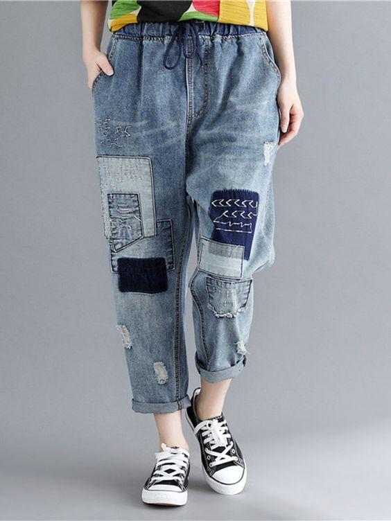 Модные джинсы / фото pinterest.com