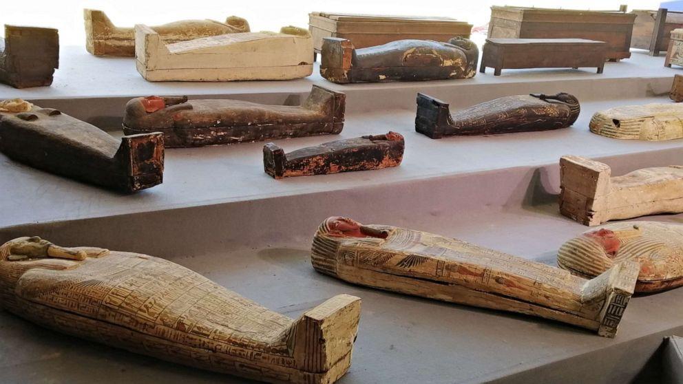 Саркофаги с мумиями в Египте / фото abcnews