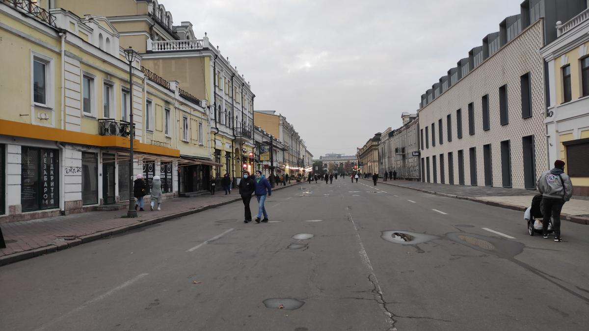 УНИАН проинспектировал, как в столице соблюдают карантин выходного дня