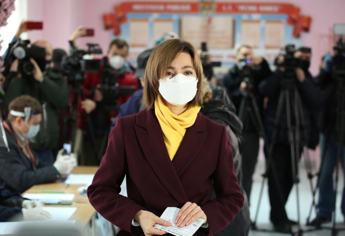 Майя Санду перемагає на президентських виборах у Молдові/ фото REUTERS