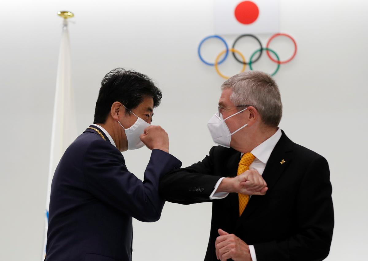 Томас Бах прибыл в Японию / фото REUTERS
