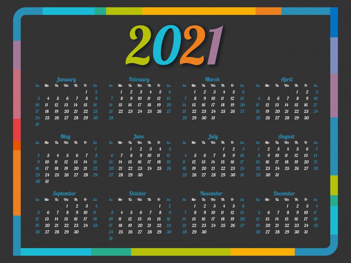 Вихідні та святкові дні у 2021 році - календар / фото ua.depositphotos.com