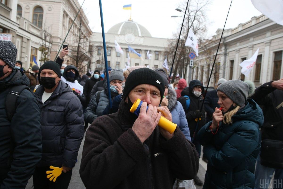 В акциях протеста против произвола местных властей готовы принять участие 13% опрошенных / фото УНИАН