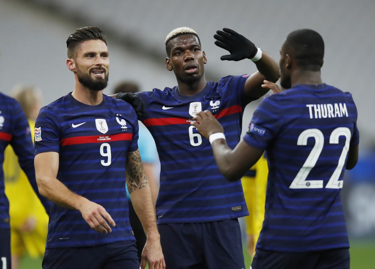 Гравці збірної Франції / фото REUTERS