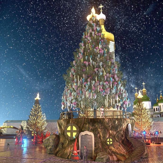 Новый год 2021 Киев - какой будет главная елка страны: вид и стоимость / FOLK UKRAINE
