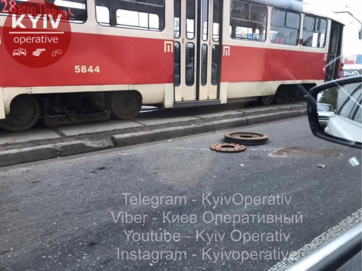 Рух трамваїв заблоковано / Київ Оперативний Facebook