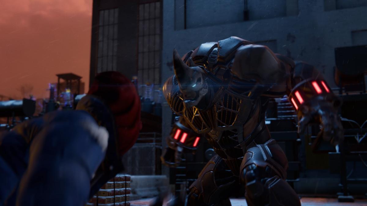 Первый бой с Носорогом /скриншот