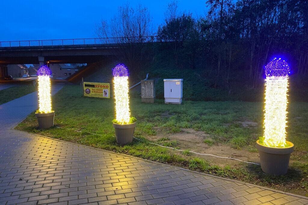 Похожие на пенис - бельгийский городок удивил новогодними декорациями / фото: Anthony Dumarey
