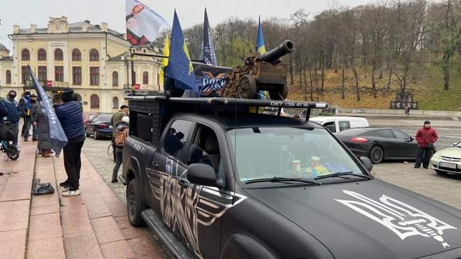 В День Достоинства и свободы в Киеве состоялся автомарш / фото 24 канал
