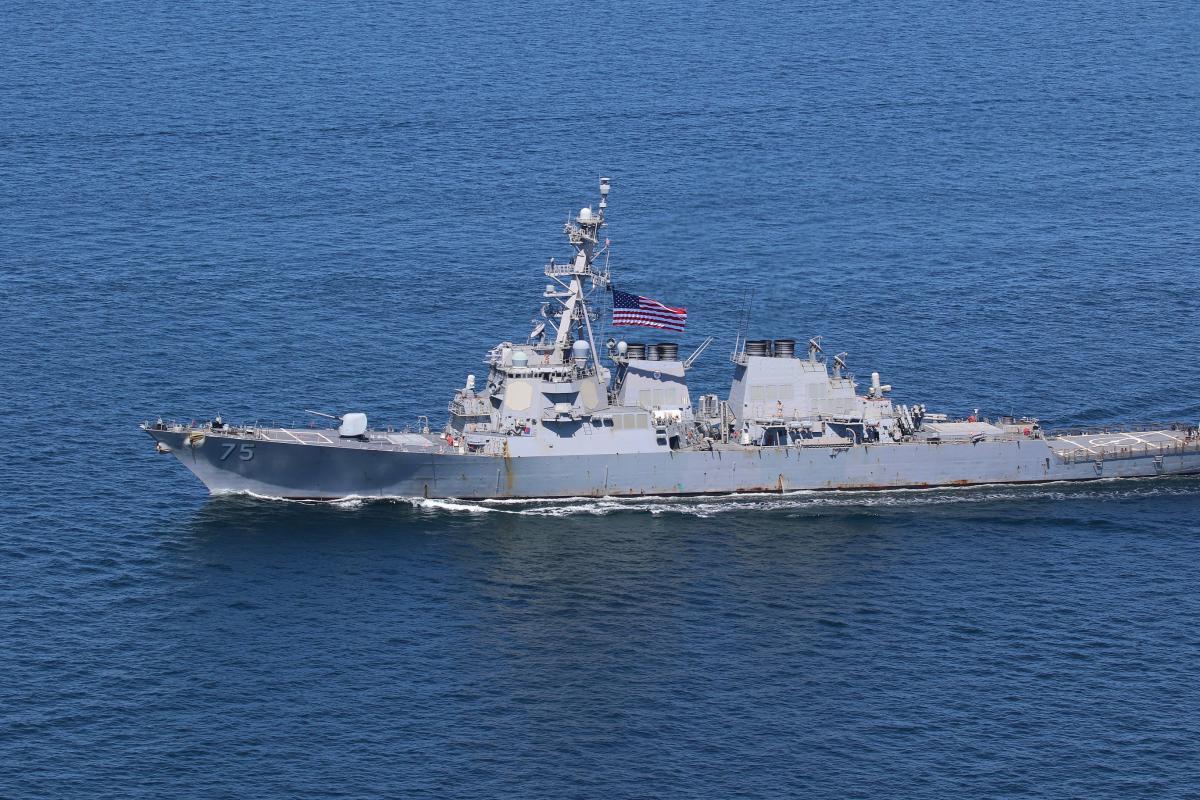 USS Donald Cook направляется в Черноеморе/ фото twitter.com/USNavyEurope
