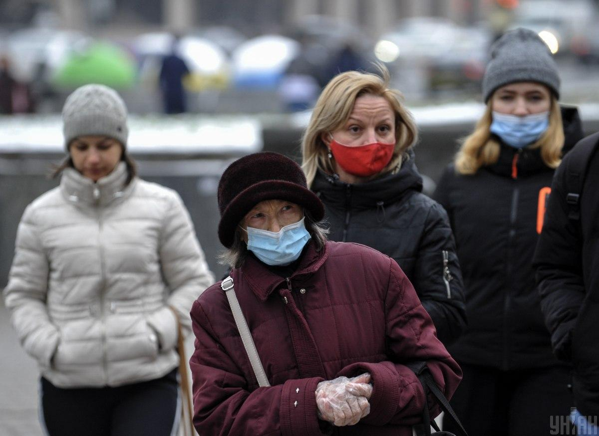 The Interior Ministry reports almost all Ukrainians wear face masks / Photo from UNIAN, by Serhiy Chuzavkov