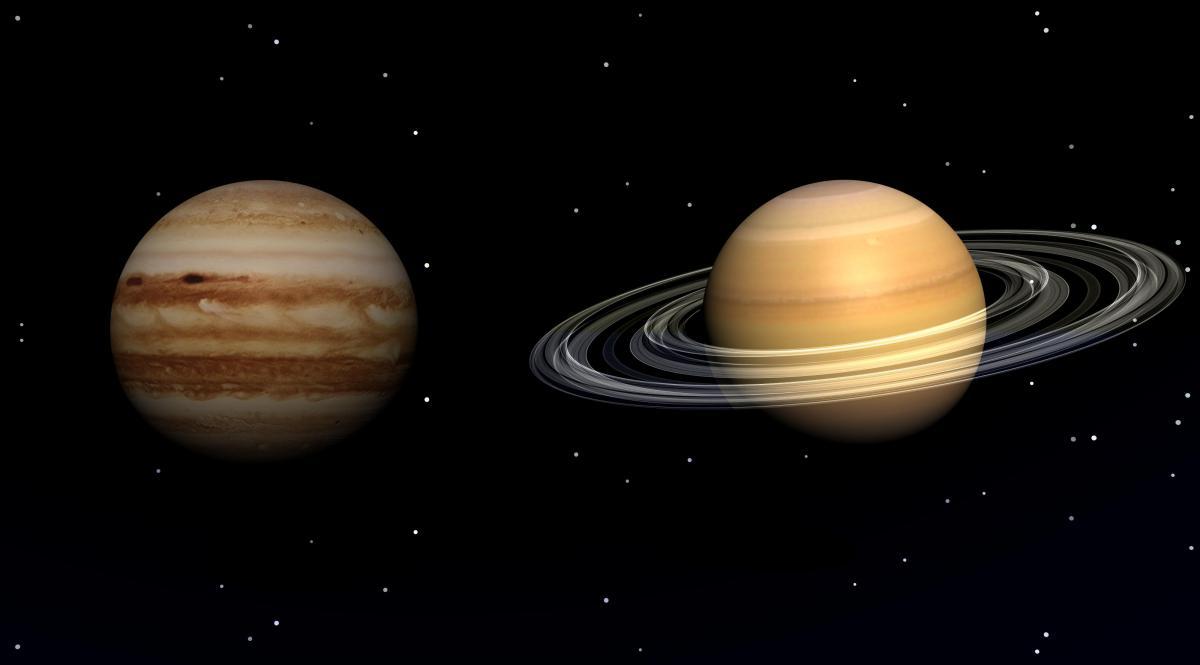 Юпітер і Сатурн наблизяться один до одного на мінімальну відстань / фото ua.depositphotos.com