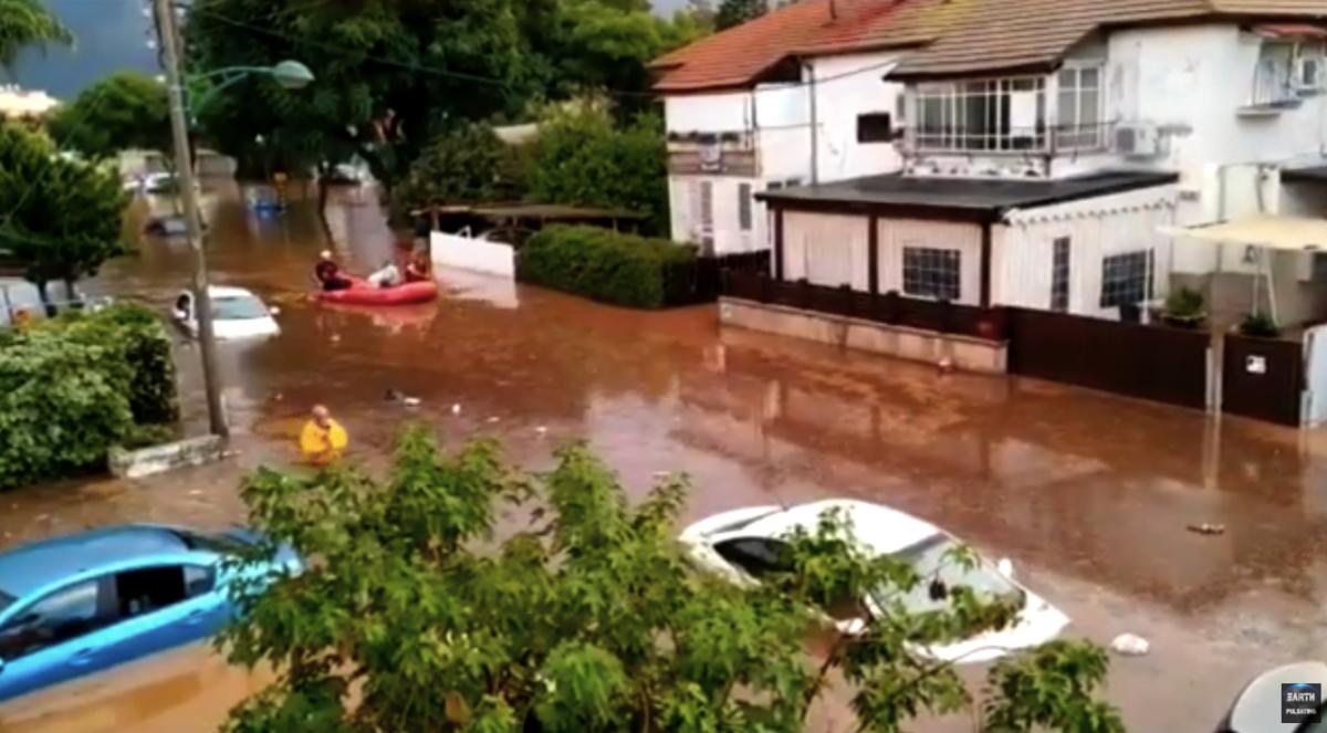 Наводнение в Израиле после сильных дождей / Скриншот