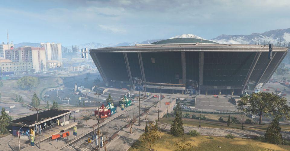 Виртуальная версия Донбасс-арены в CoDWarzone /скриншот
