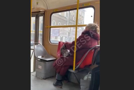 В одеському трамваї стався мовний конфлікт / скріншот