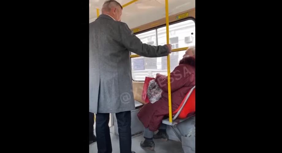 В одеському трамваї влаштували скандал через українську мову / скріншот з відео