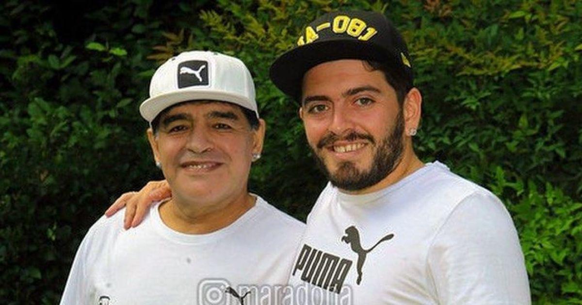 Диего Марадона вместе со своим сыном/ фото instagram.com/maradona