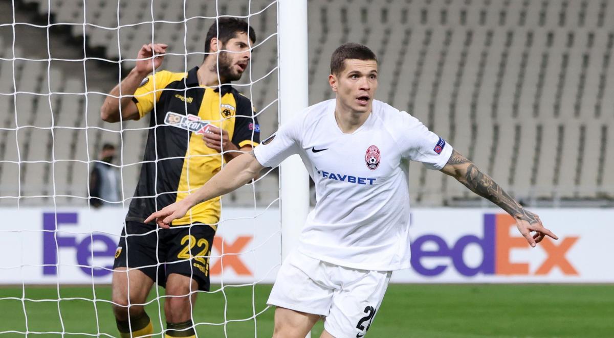 Артем Громов забив перший гол Зорі / фото REUTERS