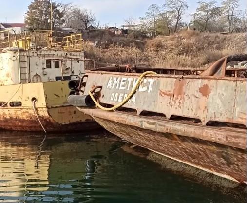 """СМИ сообщали о затоплении судна """"Аметист"""" / скриншот из видео"""
