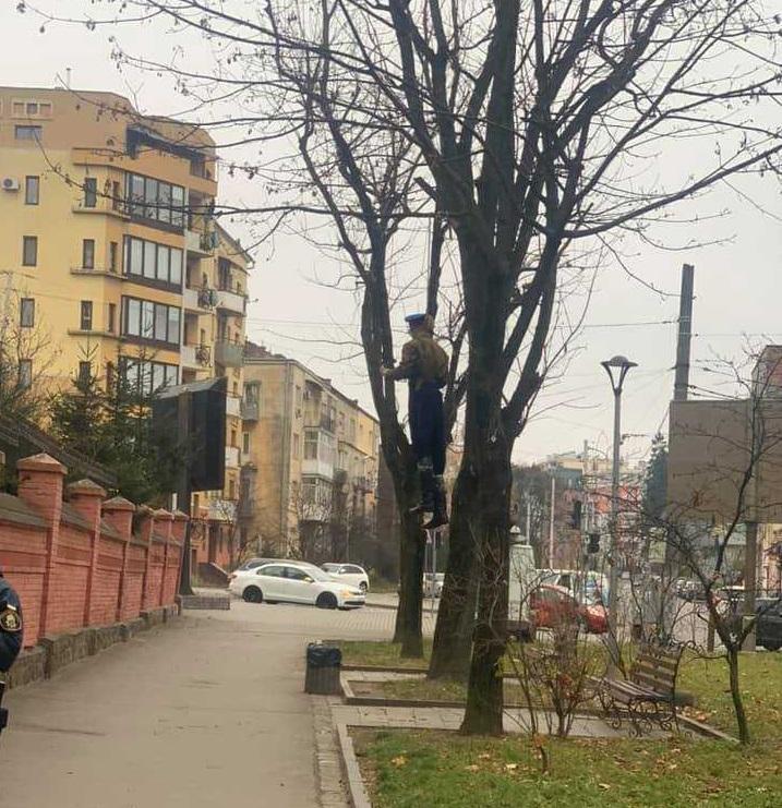 Львовяне одобрительно воспринимали действо / фото Facebook Елены Живко