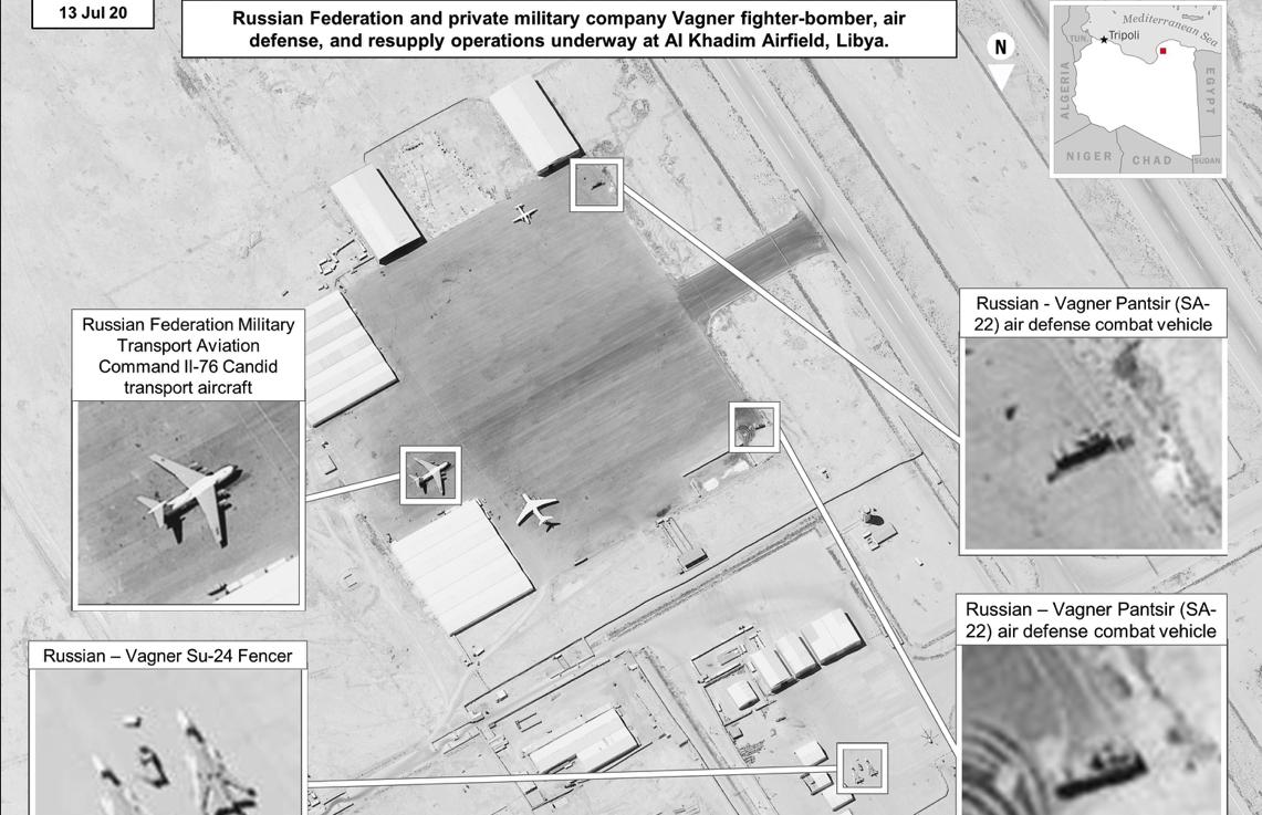 """Боевые и транспортные самолеты """"Вагнера"""" в Ливии / фото US Department of Defense"""