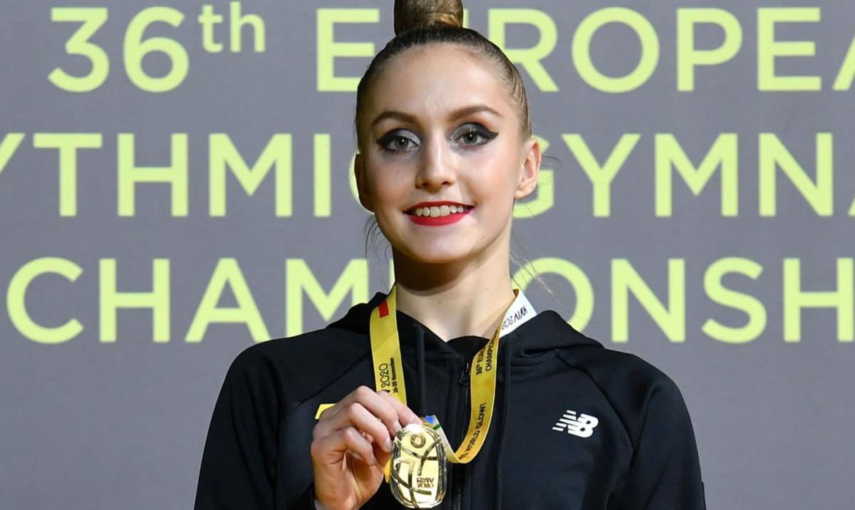 Поліна Каріка завоювала золото серед юніорок / фото facebook.com/team.ukraine.rg