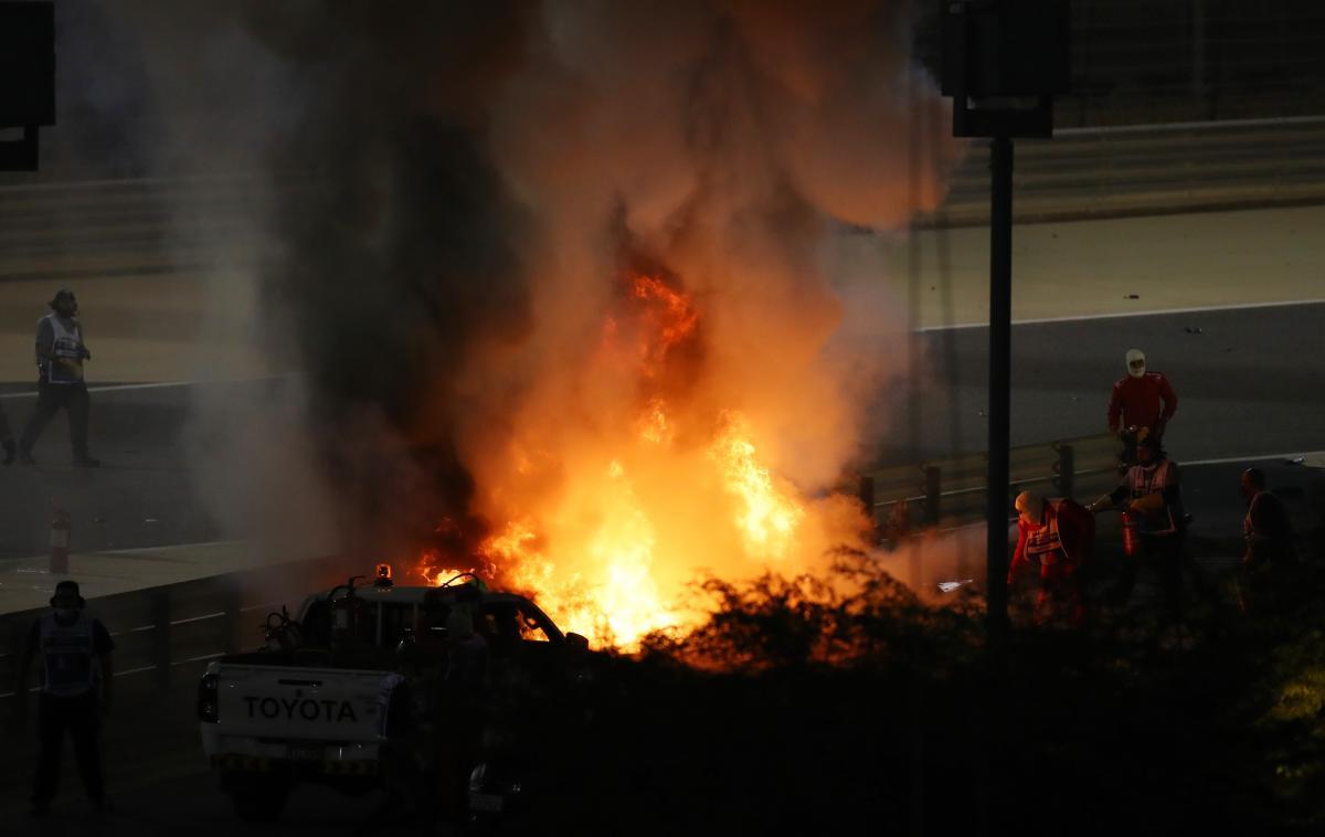 Пілот Формули-1 Ромен Грожан потрапив у страшну аварію / фото REUTERS