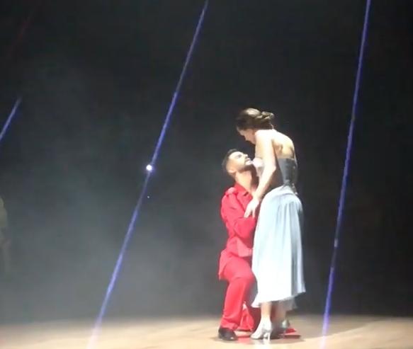 Другий танець Саніної у фінальному ефірі / Скріншот
