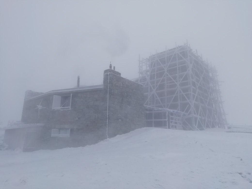 Метель на горе Поп Иван / Фото Черногорский горный поисково-спасательный пост